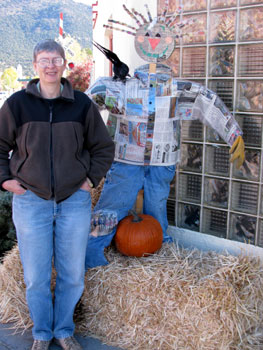 newspaper scarecrow