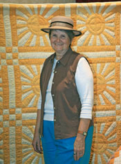 Paula at the quilt show