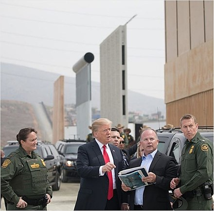 Trump visits San Diego  border wall prototypes.